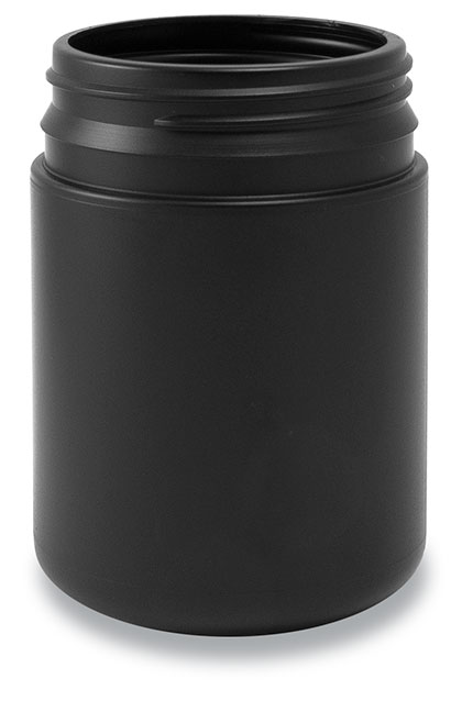 260-63 TE Round Jar Black