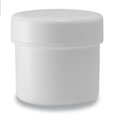 50g Pot and Lid White