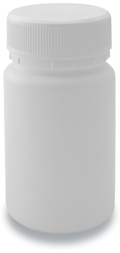 90-40 Tablet Bottle White+ 40mm Plain Cap White