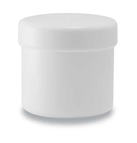 100g Pot and Lid White