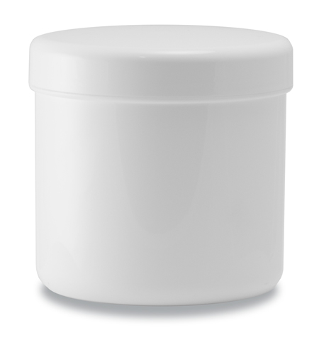 500g pot and Lid White
